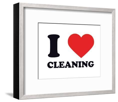 I Heart Cleaning--Framed Art Print