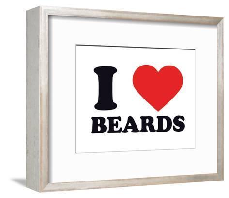 I Heart Beards--Framed Art Print