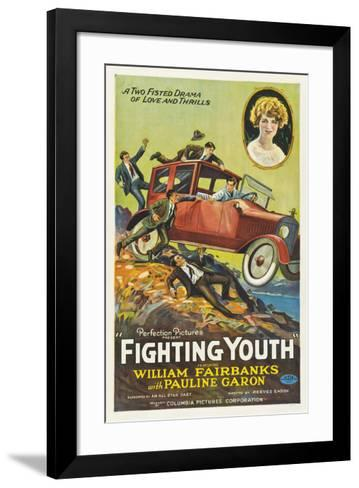 Fighting Youth - 1925--Framed Art Print