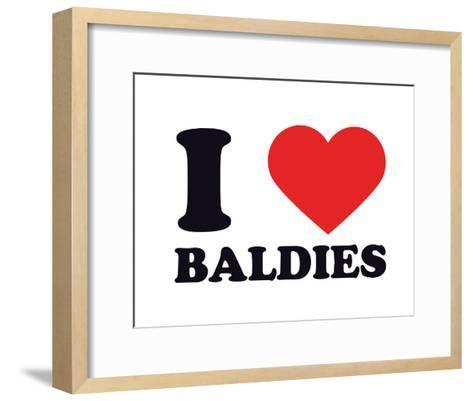 I Heart Baldies--Framed Art Print