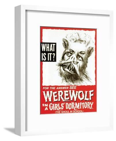 Werewolf In A Girls' Dormitory - 1961--Framed Art Print