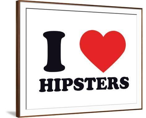 I Heart Hipsters--Framed Art Print