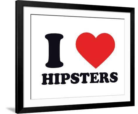I Heart Hipsters--Framed Art Print