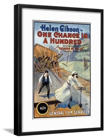 Hazards Of Helen - 1915--Framed Art Print