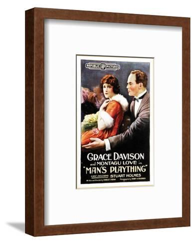 Man's Plaything - 1920--Framed Art Print