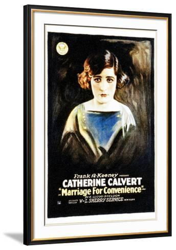 Marriage For Convenience - 1919--Framed Art Print