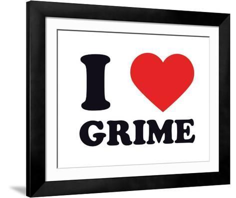 I Heart Grime--Framed Art Print