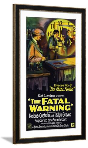 The Fatal Warning - 1929--Framed Art Print