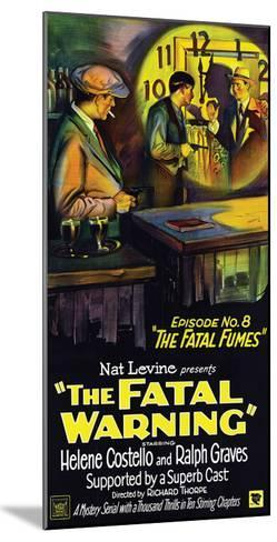 The Fatal Warning - 1929--Mounted Giclee Print