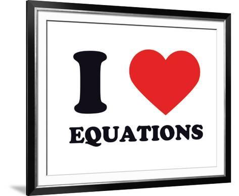 I Heart Equations--Framed Art Print