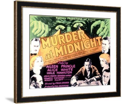 Murder At Midnight - 1931--Framed Art Print