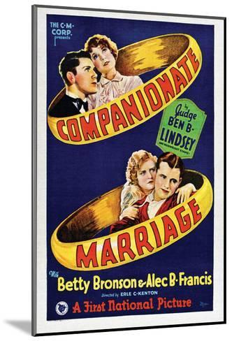 Companionate Marriage - 1928--Mounted Giclee Print