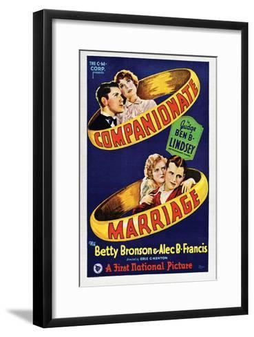 Companionate Marriage - 1928--Framed Art Print