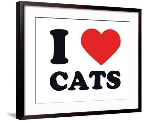 I Heart Cats--Framed Art Print