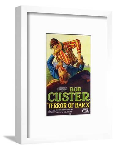 Terror Of Bar X - 1927--Framed Art Print