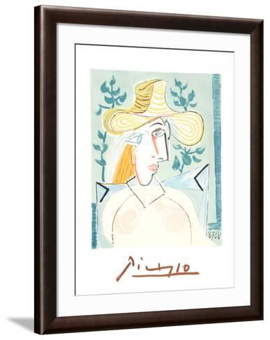 Femme a la Collerette-Pablo Picasso-Framed Art Print