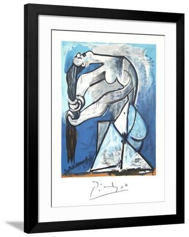 Ne Se Tordant les Chevaux-Pablo Picasso-Framed Art Print