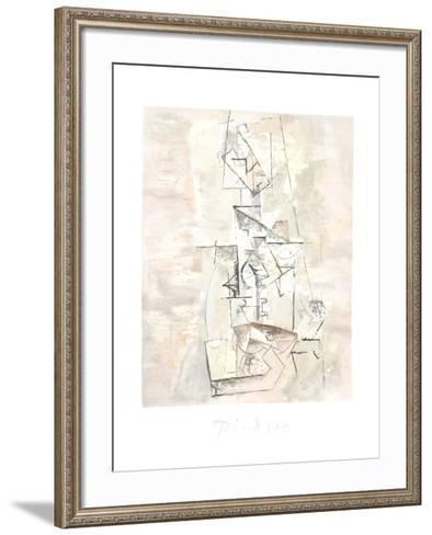 Femme a la Mandoline (Madmoiselle Leonie assie)-Pablo Picasso-Framed Art Print