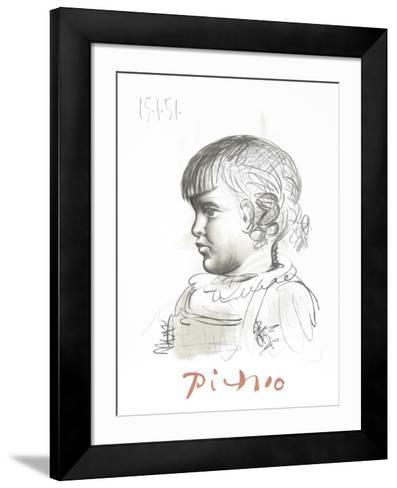 Portrait d'Enfant-Pablo Picasso-Framed Art Print