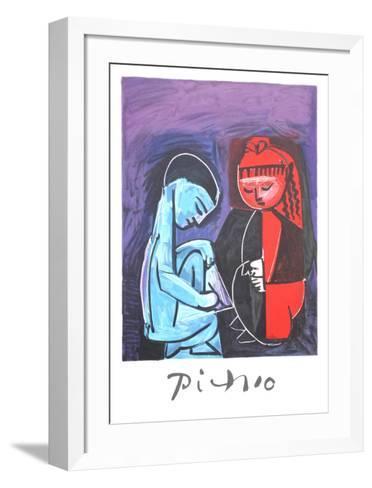 Deux Enfants Claude et Paloma-Pablo Picasso-Framed Art Print