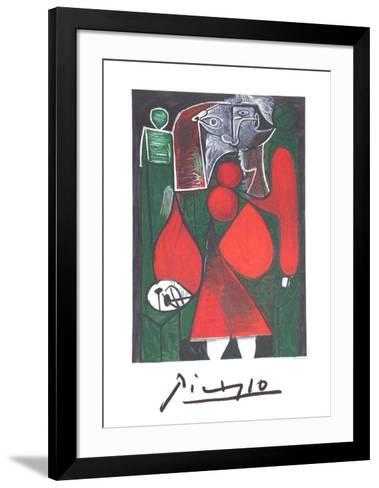 Femme en Rouge su Fauteuil-Pablo Picasso-Framed Art Print
