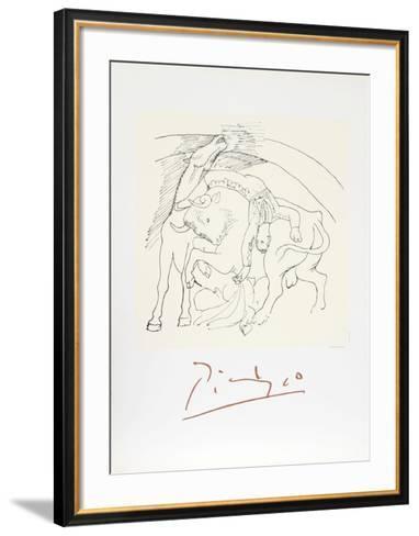 Taureau et Cheval-Pablo Picasso-Framed Art Print