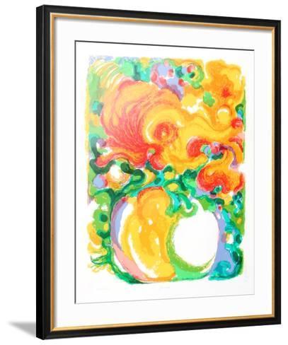 Zinnias-Ronald Julius Christensen-Framed Art Print