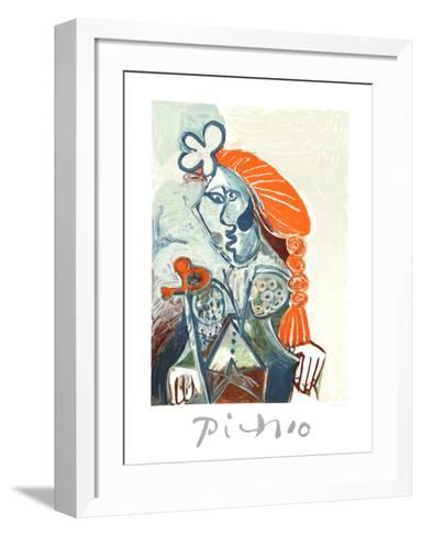 La Femme avec le BŽret Rouge-Pablo Picasso-Framed Art Print