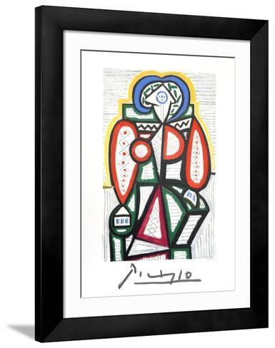 Femme Assise-Pablo Picasso-Framed Art Print