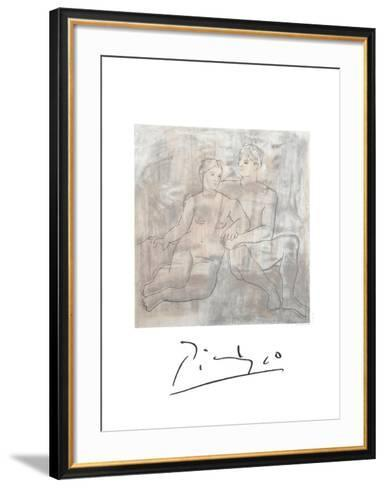 Le Entretien-Pablo Picasso-Framed Art Print