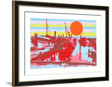 Freeport Fishing Boats-Max Epstein-Framed Art Print