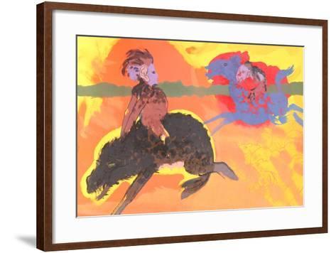 Untitled (Green Eyed Warthog)-Robert Beauchamp-Framed Art Print