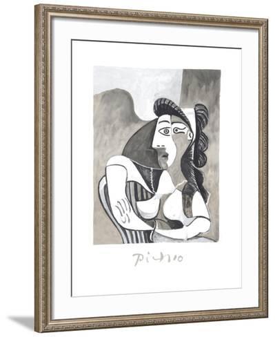 Femme Accoudee au Fauteuil-Pablo Picasso-Framed Art Print
