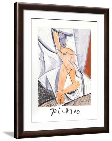 Etude pour le nu a la Draperie-Pablo Picasso-Framed Art Print