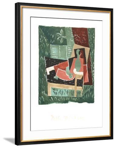 Nu au Bras Leve de Face-Pablo Picasso-Framed Art Print