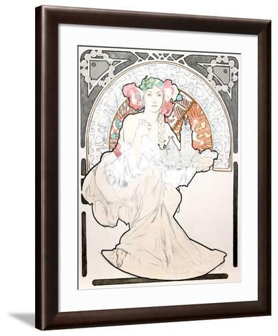 Lovely Protector-Alphonse Mucha-Framed Art Print