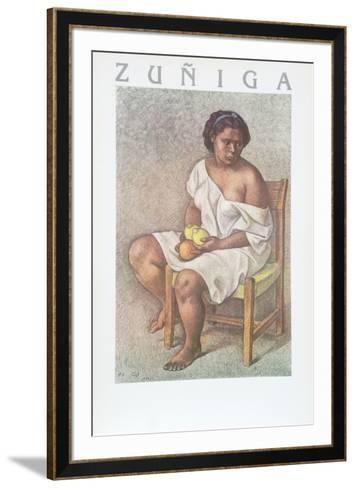 Woman with Lemons-Francisco Zuniga-Framed Art Print