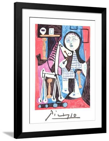 Enfant Avec Cheval a Toulettes-Pablo Picasso-Framed Art Print