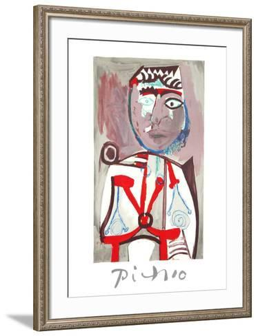 Personnage-Pablo Picasso-Framed Art Print