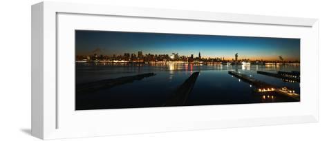 Manhattan-Lights-Philip Plisson-Framed Art Print