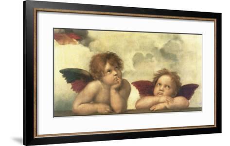Sistine Madonna Detail-Raphael-Framed Art Print