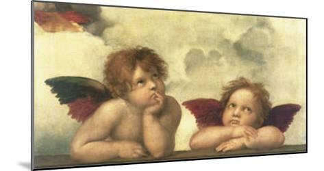 Sistine Madonna Detail-Raphael-Mounted Art Print