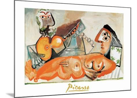 Laying Nude and Musician-Pablo Picasso-Mounted Art Print