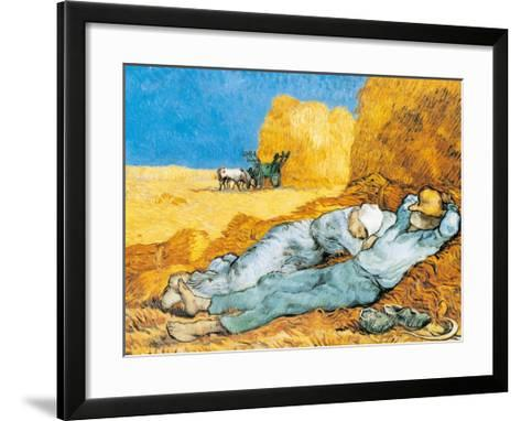 La Siesta-Vincent van Gogh-Framed Art Print