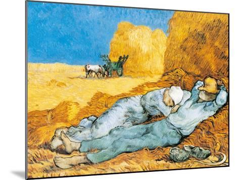 La Siesta-Vincent van Gogh-Mounted Art Print