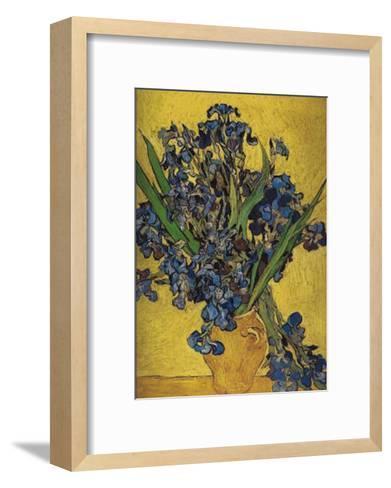 Irises in Vase-Vincent van Gogh-Framed Art Print