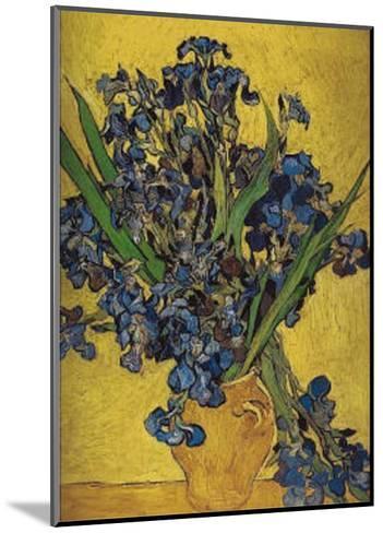 Irises in Vase-Vincent van Gogh-Mounted Art Print
