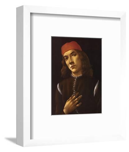 Portrait of Youth-Sandro Botticelli-Framed Art Print