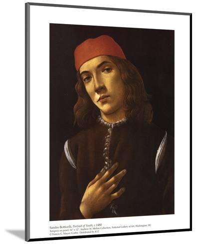Portrait of Youth-Sandro Botticelli-Mounted Art Print