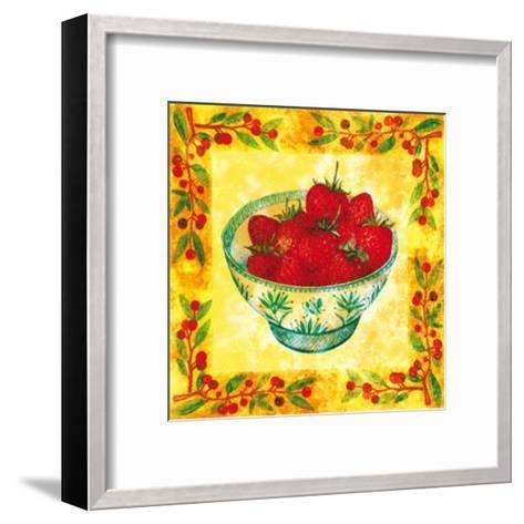 Seasons' Fruits Strawberries--Framed Art Print